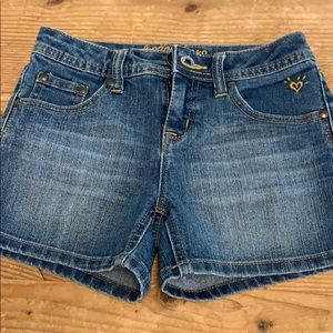 Justice Girls Denim Shorts Sz 10R